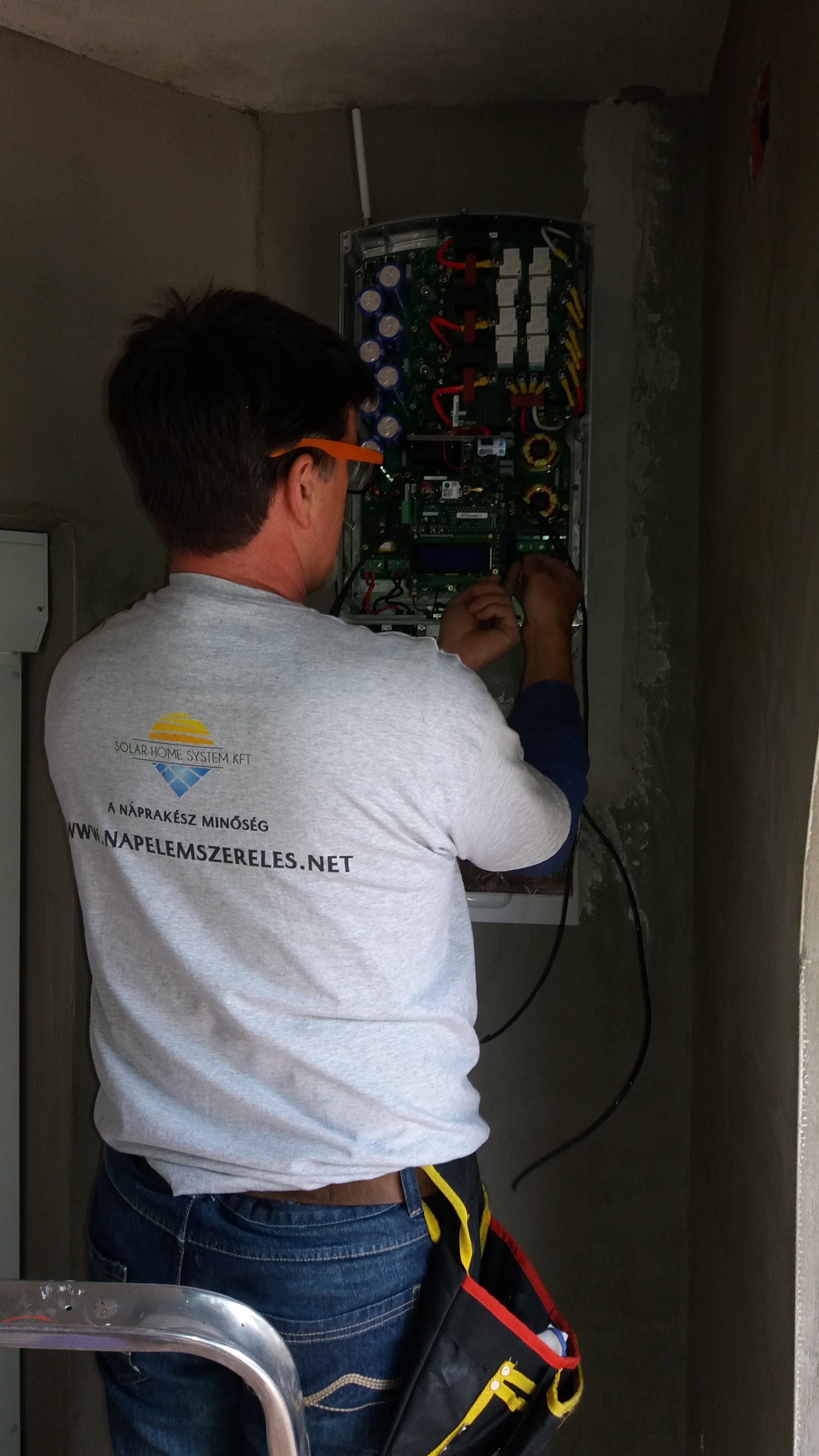 Solaredge inverter szerelés